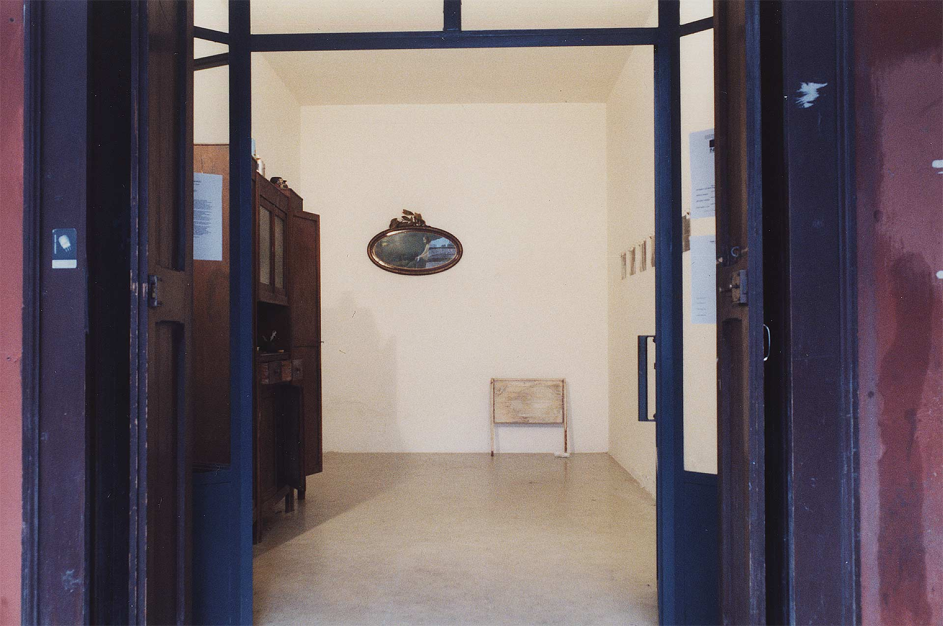 La casa dei nonni 2001, mixed media, exhibition at Graffio, Bologna
