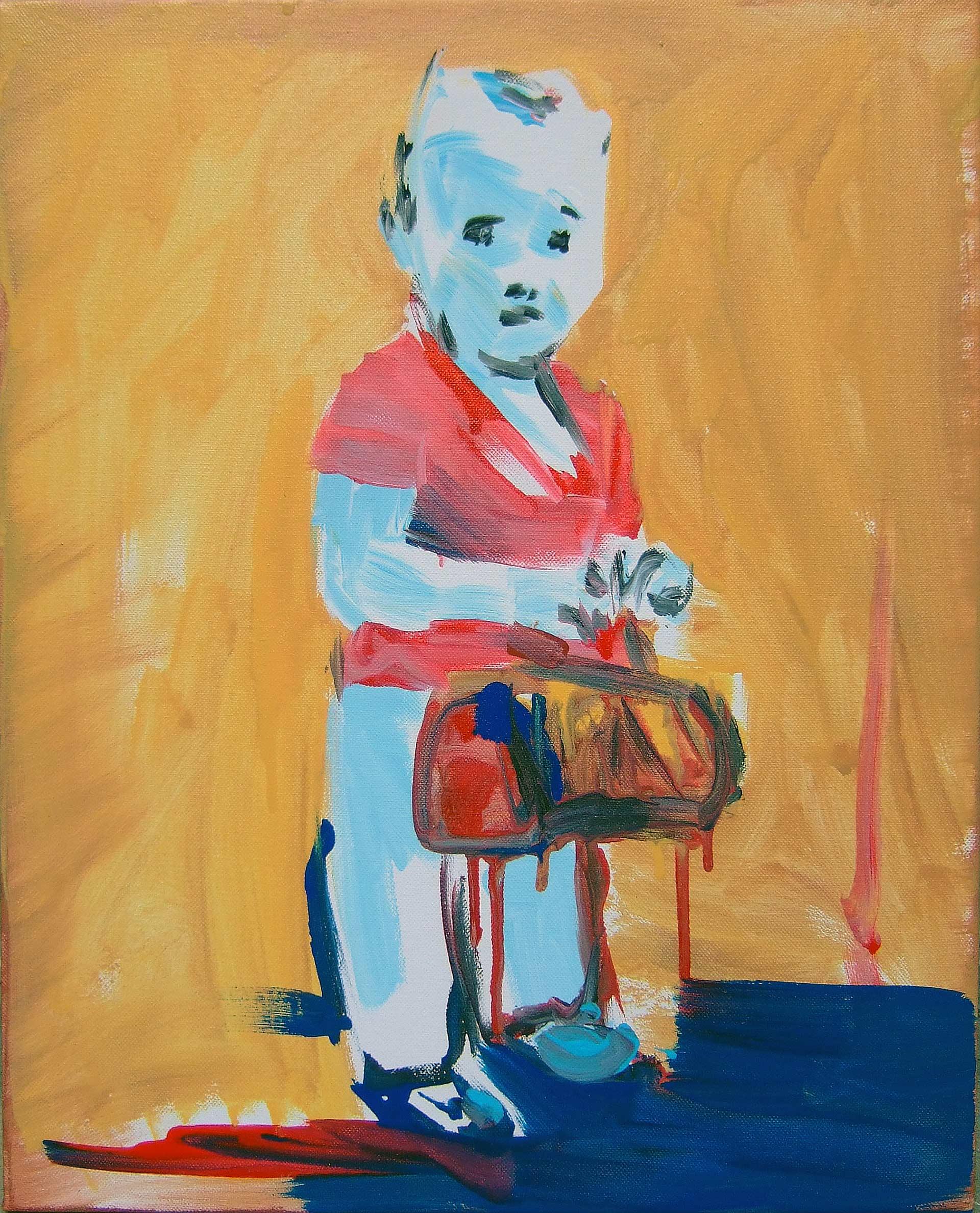 UP0706 (Agnese) Acrylic on canvas, 50 x 40 cm.
