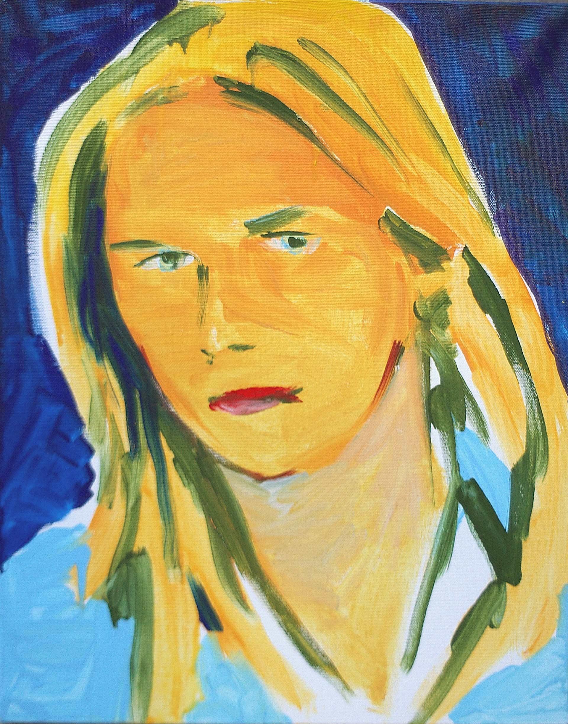 UP0903 2009, acrylic on canvas, 50 x 40 cm.