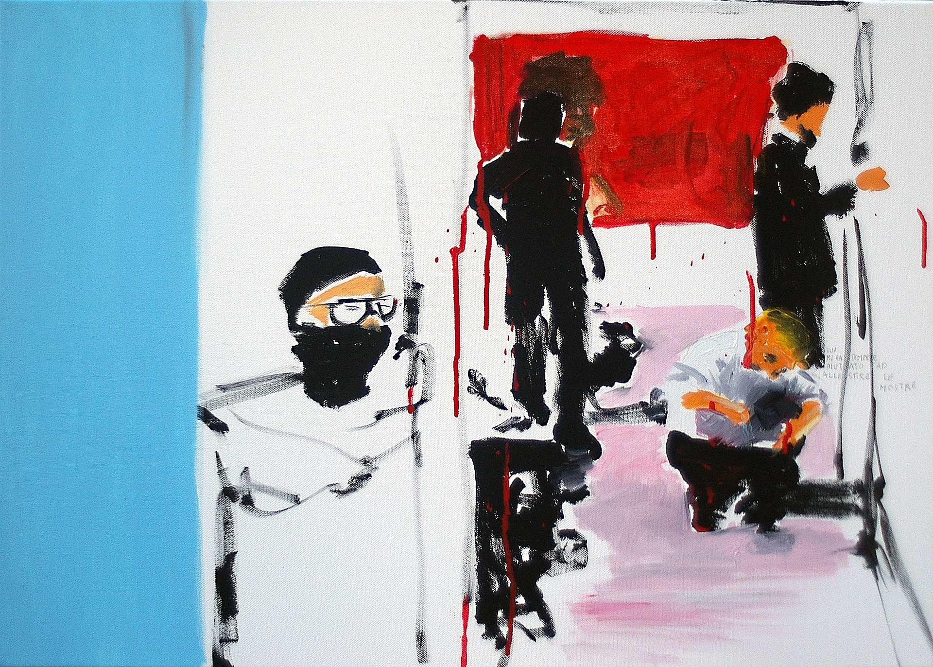 UP0905 (Elia) 2009, acrylic on canvas, 70 x 100 cm.