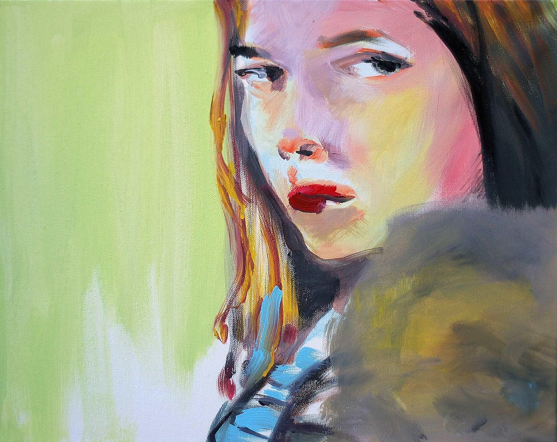 UP0906 2009, acrylic on canvas, 40 x 50 cm.