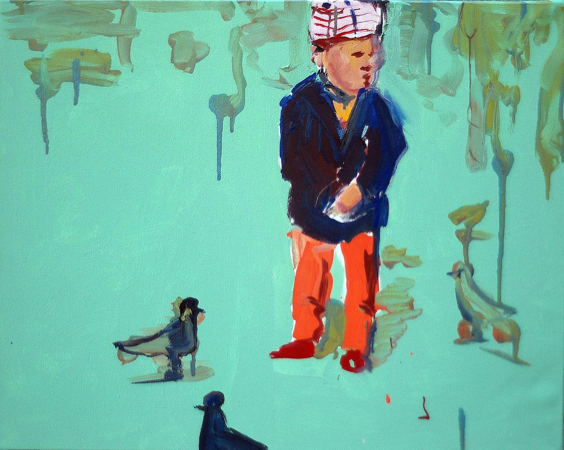UP0908 2009, acrylic on canvas, 40 x 50 cm.
