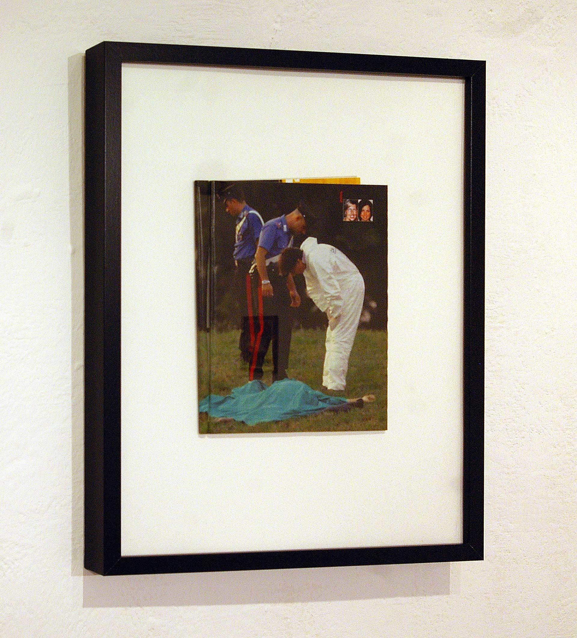 UP1007 2010, acrylic on magazine, framed, 50 x 40 cm.