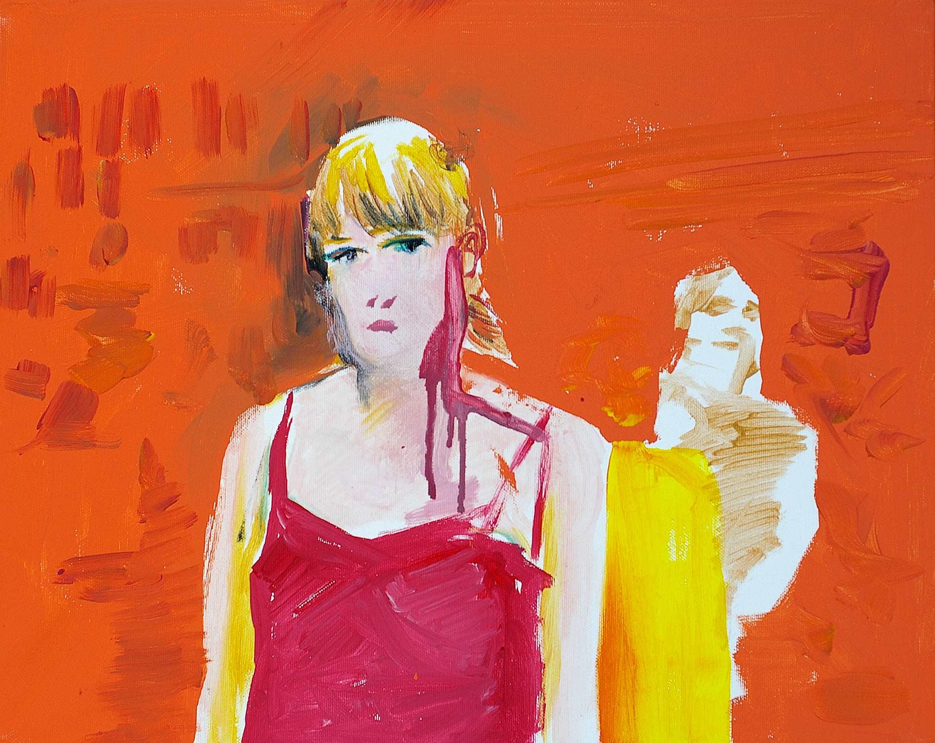 UP1105 (LB) 2011, acrylic on canvas, cm. 40 x 50.