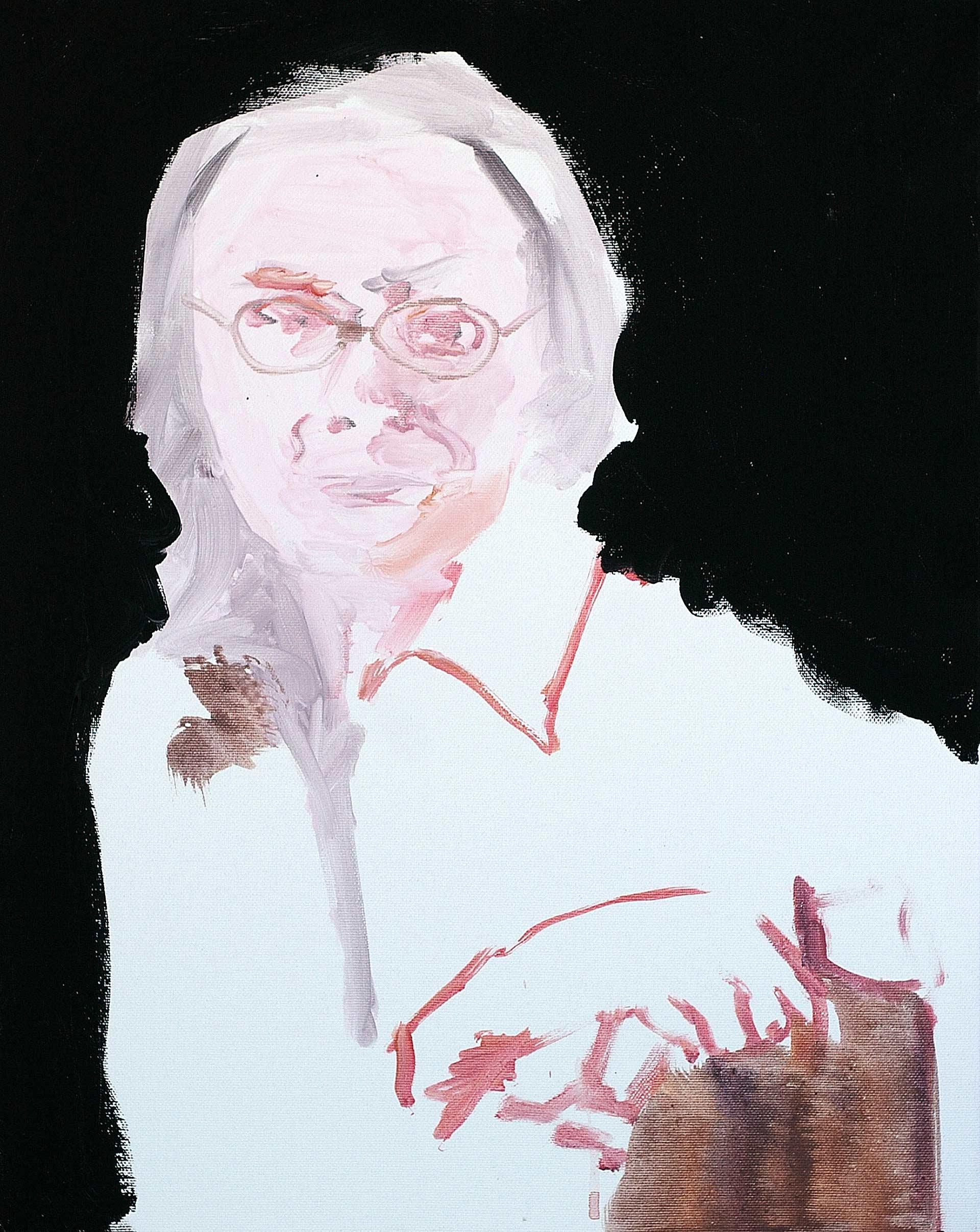 UP110 (Anna) 2011, acrylic on canvas, cm. 50 x 40.