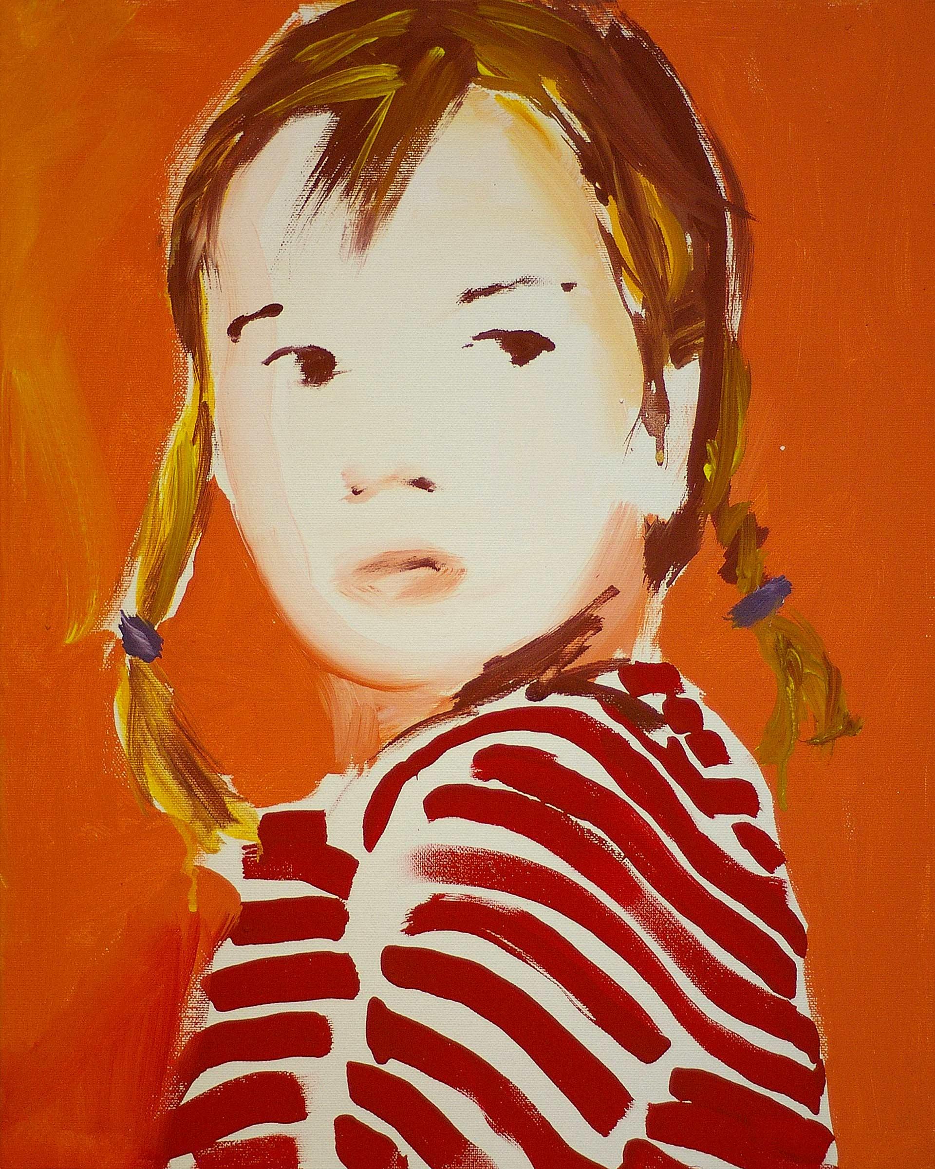 UP1111 2011, acrylic on canvas, cm. 50 x 40.